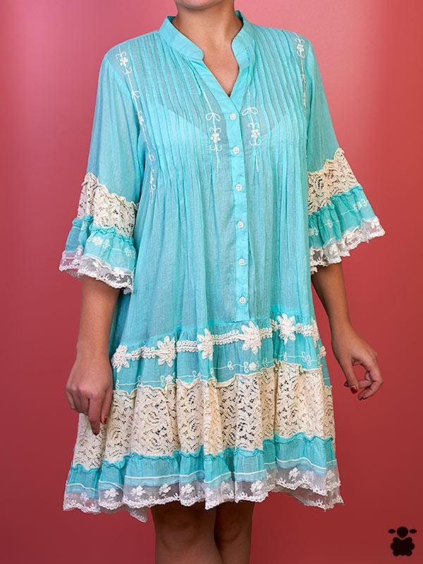 Vestido Azul Boho Chic Vérité
